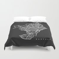 barcelona Duvet Covers featuring BARCELONA by Nicksman