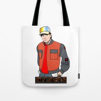 marty mcfly Tote Bags featuring Marty McFly by Pendientera