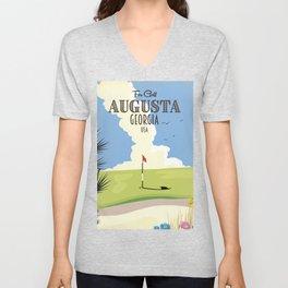 Augusta Georgia Golf Poster Unisex V-Neck