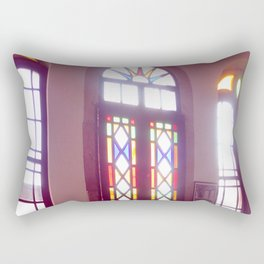 coffee house in cunda Rectangular Pillow
