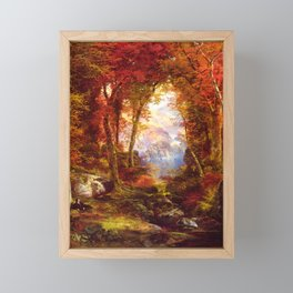 Under The Trees 1865 By Thomas Moran | Natural Wildlife Scenery Reproduction Framed Mini Art Print