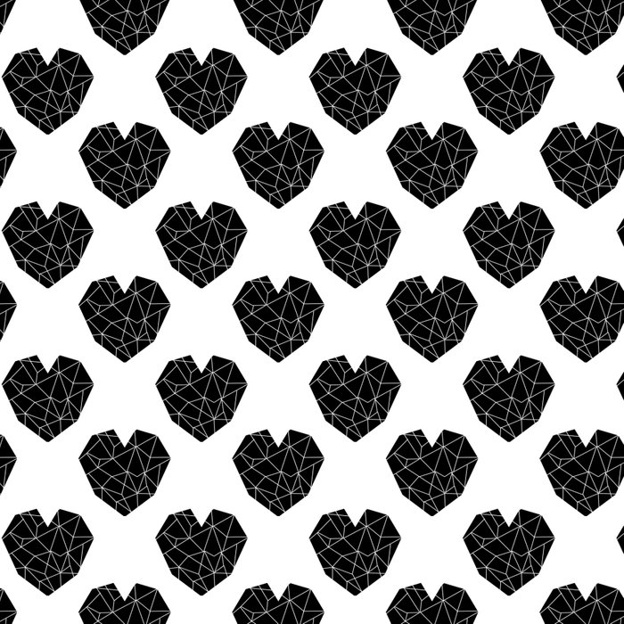 Hearts black and white geometric minimal abstract valentines day gift for gender neutral him or her  Leggings