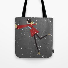 Ice Skate girl Tote Bag