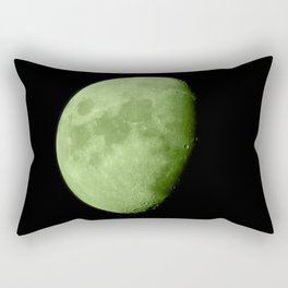 4K Dark Side of the Moon Lime Green Rectangular Pillow