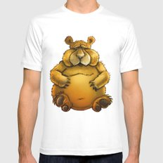 Beary sorry. MEDIUM White Mens Fitted Tee