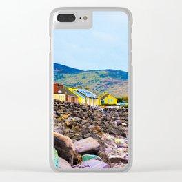 Costal Irish Village Clear iPhone Case