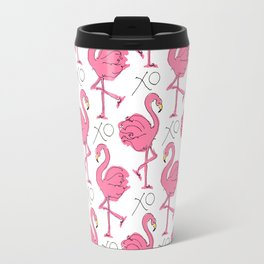 Pink Flamingoes Travel Mug