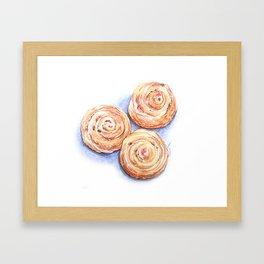 Cinnamon Rolls On Me Framed Art Print