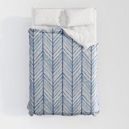 Shibori Herringbone Pattern Duvet Cover