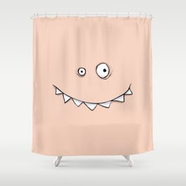 Happy Pink Monster Shower Curtain