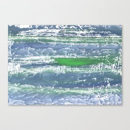 Green Blue clouded wash drawing design Canvas Print