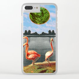 The flamingos Clear iPhone Case