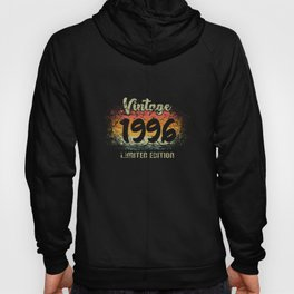 Vintage 1996 Limited Edition Birthday Gift Hoody