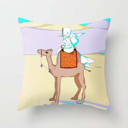 Women of the Earth Series: Woman of the Dessert and Camel Throw Pillow