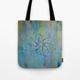 Pyrographic Mandala Tote Bag