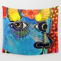 spanish Wall Tapestries featuring Spanish Bull by Rookery Design