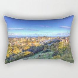Edinburgh City Panorama Rectangular Pillow