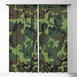 Military camouflage,soldiers pattern decor. Blackout Curtain
