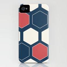 Hexed Navy iPhone (4, 4s) Slim Case