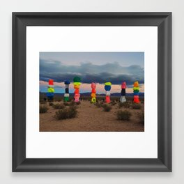 Seven Magic Mountains Framed Art Print