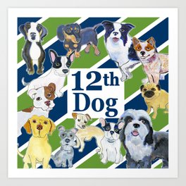 12th dog Art Print