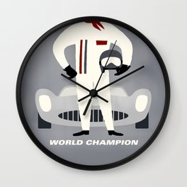 World Champion Bed Cover Wall Clock