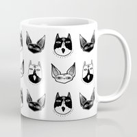 kittens Mugs featuring Witchy Kittens by lOll3