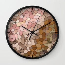Skin Tone Mosaic Wall Clock