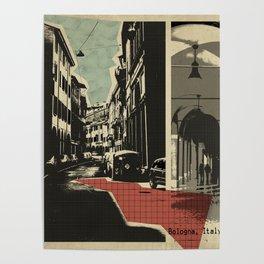 Bologna - retro card Poster
