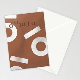 Tan Keyhole Linen Stationery Cards