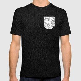 Shark Pattern White T-shirt