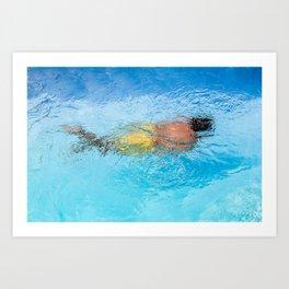 Le nageur  Art Print