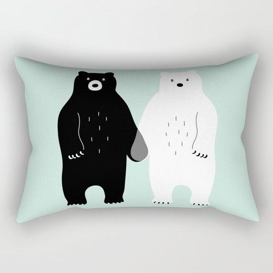 Gray Rectangular Pillow
