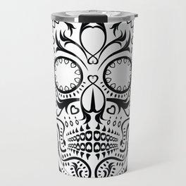 Day of the Dead Skull - Hearts Travel Mug