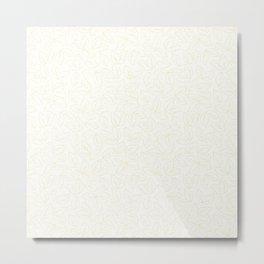Apple Leaves_Background White Metal Print