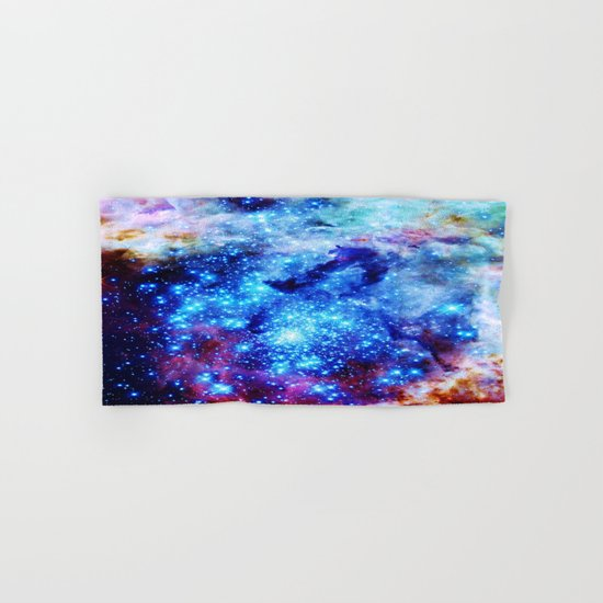 galaxy blue sparkle Hand & Bath Towel