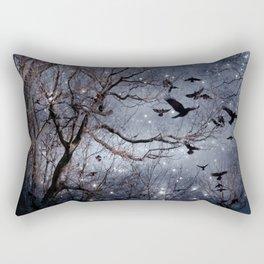 Woodland Crows And Bursting Stars Rectangular Pillow
