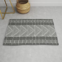 Black and White Line Art Rug