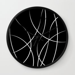 Flow in the dark Wall Clock