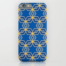Star of David Pattern iPhone Case