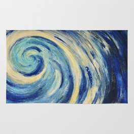 Sea wave image of abstract painting  Rug