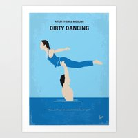 dirty dancing Art Prints featuring No298 My Dirty Dancing minimal movie poster by Chungkong