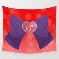 bow Wall Tapestries featuring Mars Bow by Geekilicious
