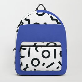 Memphis pattern 44 Backpack