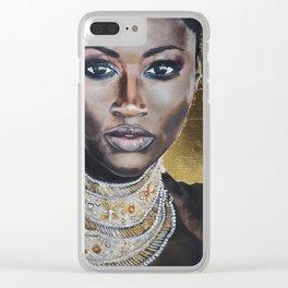 Graceful Ebony Clear iPhone Case