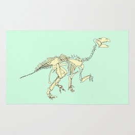 Pastel Iguanodon Rug