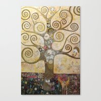 klimt Canvas Prints featuring klimt by Ju Tiscornia
