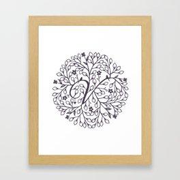 V - monogrammed initial V print Framed Art Print