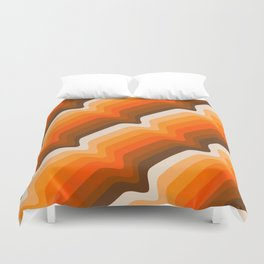 Golden Wave Duvet Cover