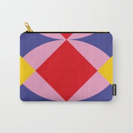 Two fly shaped wrestler's heads intersecating, making a beautiful red square in the center. Carry-All Pouch